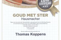 Hausmacher [GOUD met STER]